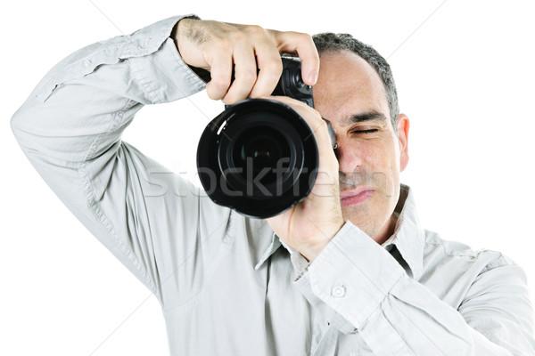 Photographer with camera Stock photo © elenaphoto
