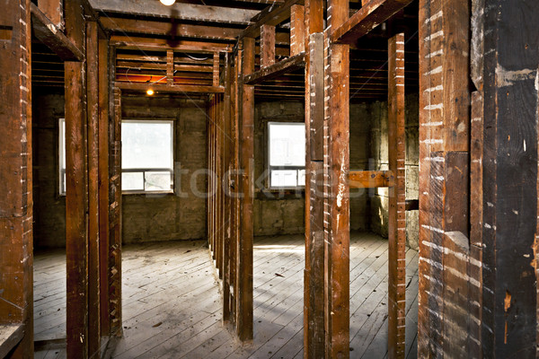 Stock photo: Home interior gutted for renovation