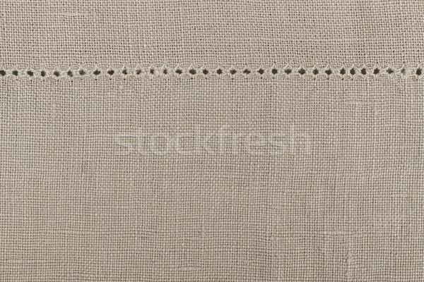 Vászon szövet perem ruha szalvéta természetes Stock fotó © elenaphoto
