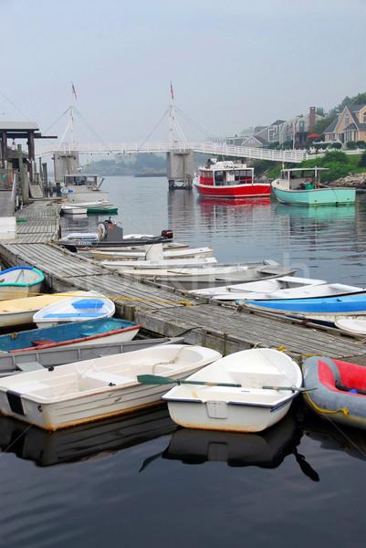 Boats in harbor Stock photo © elenaphoto