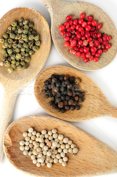 Assorted peppercorns Stock photo © elenaphoto