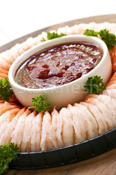 Seattle gyűrű előétel étel buli tenger Stock fotó © elenaphoto