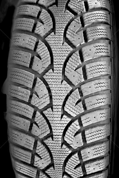 Tire tread closeup Stock photo © elenaphoto