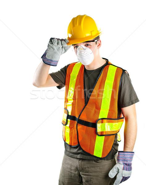 Construction worker wearing safety equipment Stock photo © elenaphoto