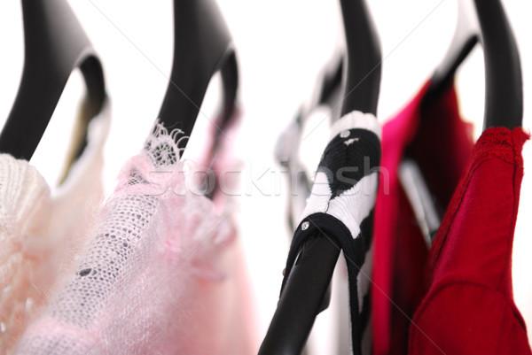 Elbise giyim raf siyah kadın kadın Stok fotoğraf © elenaphoto