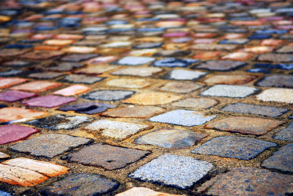 Cobblestone background Stock photo © elenaphoto