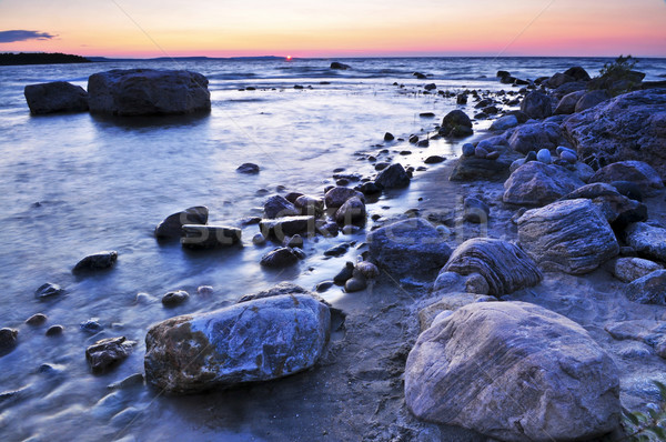 日没 水 海岸 カナダ 海 美 ストックフォト © elenaphoto