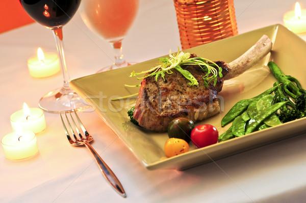 Stock photo: Veal dinner
