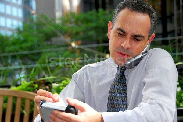 Busy businessman Stock photo © elenaphoto