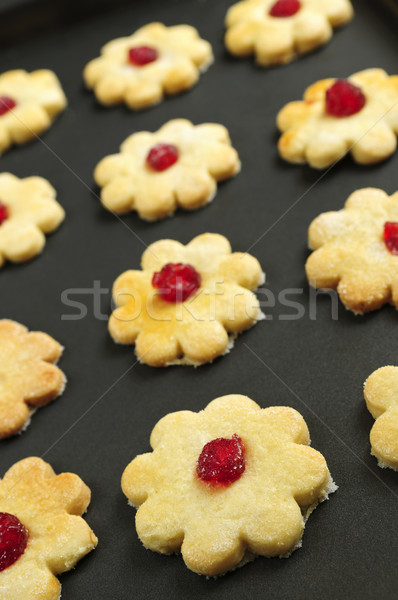 Cookies fraîches plateau alimentaire dessert Photo stock © elenaphoto