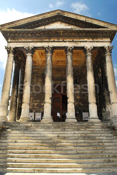 Foto d'archivio: Romana · tempio · Francia · città · meridionale · costruzione