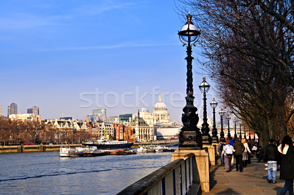 Stock photo: London view from South Bank