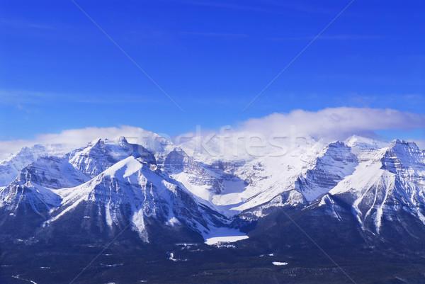 Snowy mountains Stock photo © elenaphoto