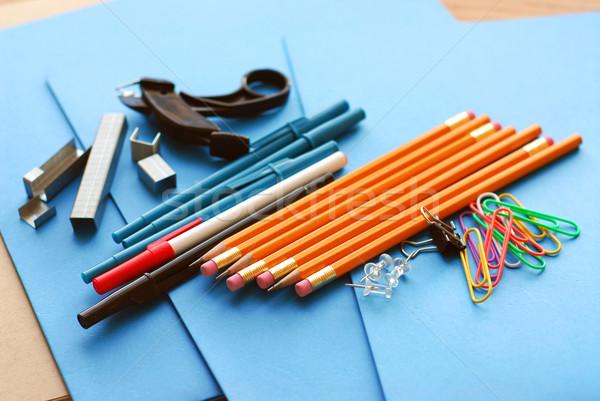 School office supplies Stock photo © elenaphoto