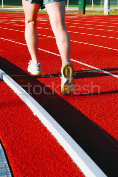 Running on racetrack Stock photo © elenaphoto