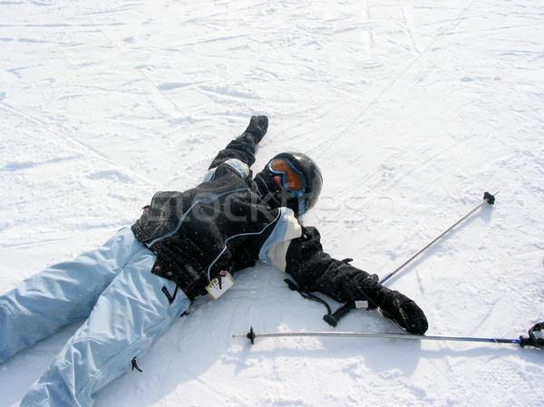 Girl ski winter Stock photo © elenaphoto