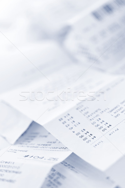 Umsatz Papier Registrierkasse verlieren Stock foto © elenaphoto