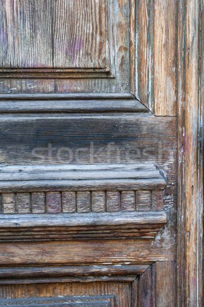 Oude deur fragment houten textuur retro Stockfoto © elenaphoto