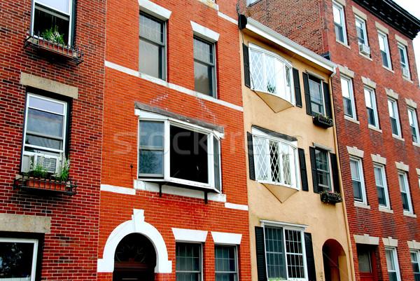 Бостон улице кирпичных домах исторический Сток-фото © elenaphoto
