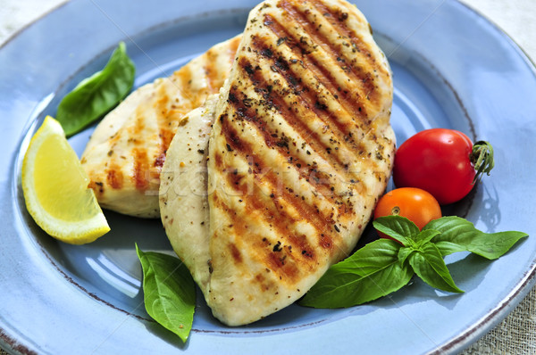 Grilled chicken breasts Stock photo © elenaphoto