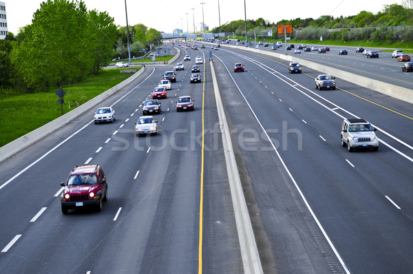 Busy highway Stock photo © elenaphoto