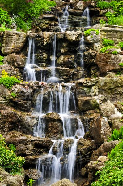 Stock photo: Cascading waterfall
