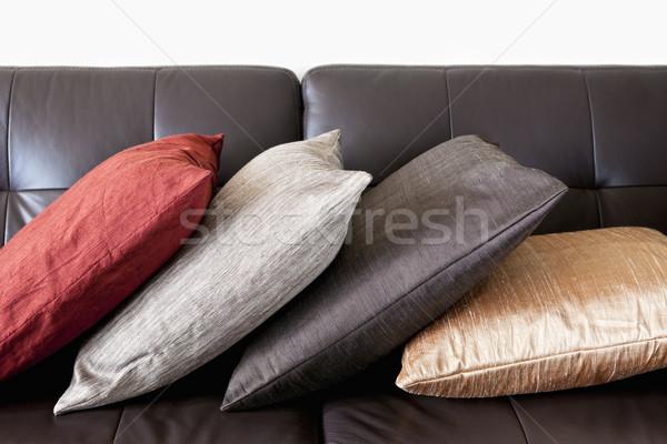 кожа диван четыре красочный темно Сток-фото © elenaphoto
