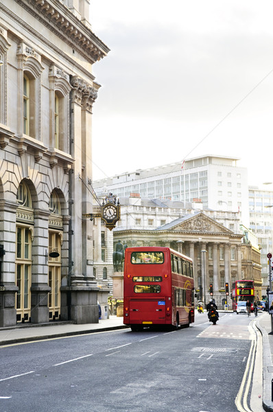 London street with view of Royal Exchange building Stock photo © elenaphoto