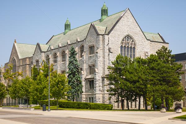 ストックフォト: 大学 · ライブラリ · 建物 · キャンパス · オンタリオ · カナダ