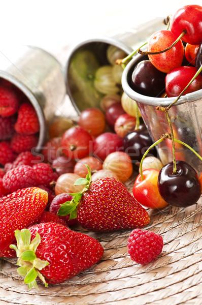 Stockfoto: Vruchten · bessen · zomer · metaal · voedsel · gezondheid