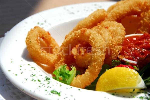 Fried calamari Stock photo © elenaphoto