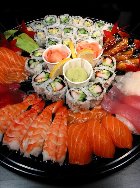 Sushi party tray Stock photo © elenaphoto