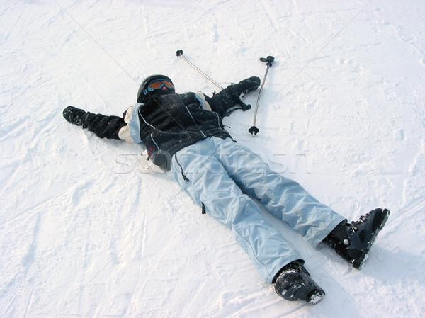 Child ski winter Stock photo © elenaphoto