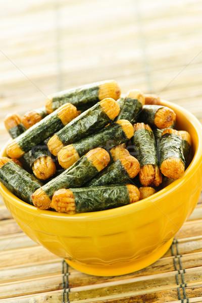 Rice and seaweed crackers Nori Maki Stock photo © elenaphoto