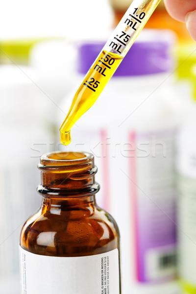 Medicine dropper and bottle Stock photo © elenaphoto