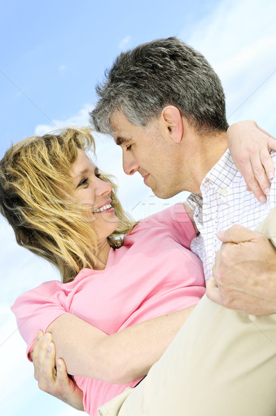 Mature romantic couple Stock photo © elenaphoto