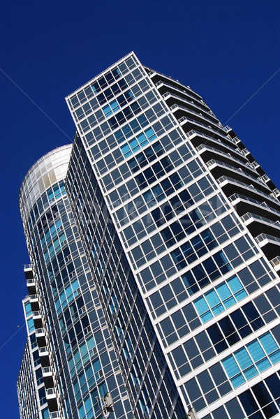 Modern condominium building Stock photo © elenaphoto