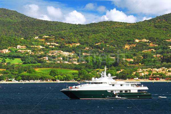 Luxury yacht at the coast of French Riviera Stock photo © elenaphoto