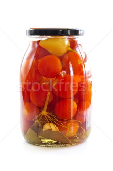 Jar of pickled vegetables Stock photo © elenaphoto