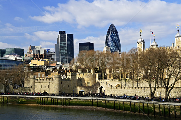 Tour Londres Skyline vue thames rivière Photo stock © elenaphoto