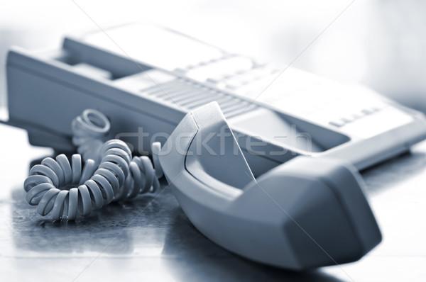 Desk telephone off hook Stock photo © elenaphoto