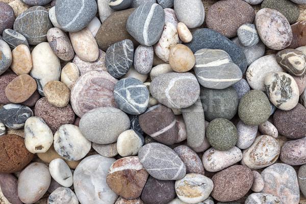 カラフル ビーチ 砂利 小 岩 ストックフォト © elenaphoto