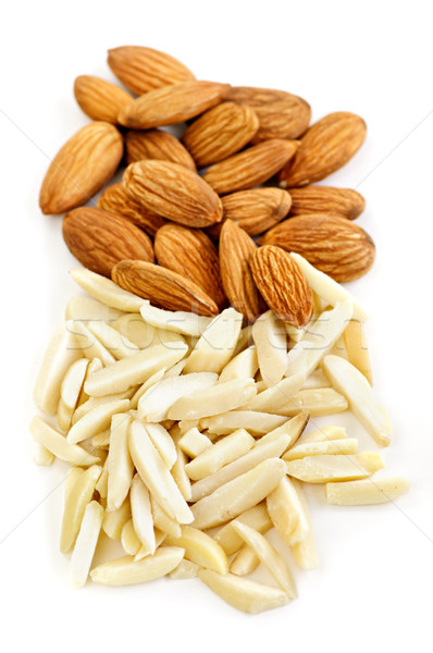 Slivered and whole almonds Stock photo © elenaphoto