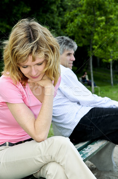 Mature couple having relationship problems Stock photo © elenaphoto