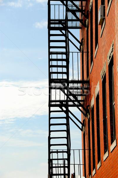 火災 脱出 古い レンガ 建物 ボストン ストックフォト © elenaphoto