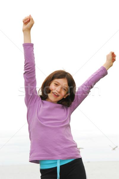 Ragazza felice ritratto giovane ragazza mare shore Foto d'archivio © elenaphoto