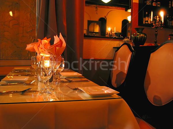 Yemek masası gıda şarap restoran bar içmek Stok fotoğraf © elenaphoto
