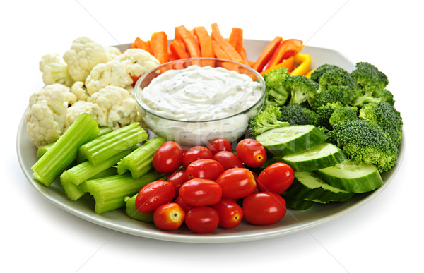 Vegetables and dip Stock photo © elenaphoto