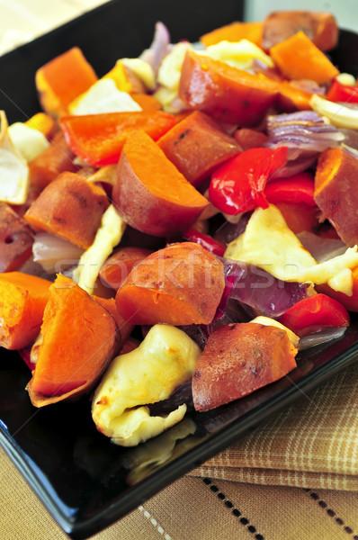 Stockfoto: Zoete · vegetarisch · schotel · kaas