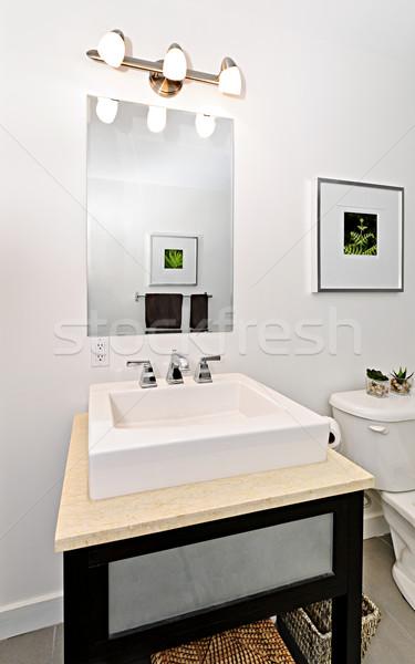 Bagno sink interni vanità specchio Foto d'archivio © elenaphoto